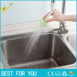 Faucet Kitchen Shower Canada - RL Rotary water valve anti splash tap water filtration mouth valve economizer kitchen bathroom shower faucet water-saving device