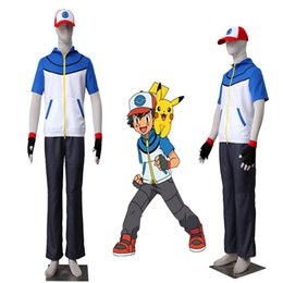$enCountryForm.capitalKeyWord Canada - Exclusive Version Pocket Monster Ash Ketchum Cosplay Costume School Uniform Cos Any Size Free Shipping with Gloves