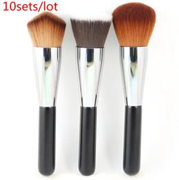 $enCountryForm.capitalKeyWord NZ - Wholesale 10sets Lot Professional Kabuki Brushes Set 3pcs Multipurpose Brushes Round +Double Wedge +Flat Makeup Tools