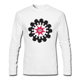 $enCountryForm.capitalKeyWord Canada - Simple style man's long shirts fine pure cotton clothing for guys 2XL long-sleeve T-Shirts for men Buddha Cat Mandala
