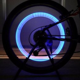 Car Led Glow Lights Canada - Bike Accessories Outdoor sport Car LED Neon Tire Wheel Gas Nozzle Valve Core Glow Stick Light For Cycling Drving Bicycle
