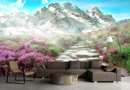 $enCountryForm.capitalKeyWord NZ - European style HD Wallpapers For Living Room Background Wall 3D Stereoscopic Snow Mountain Landscape 3d Mural Wallpaper