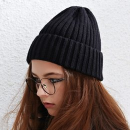 Discount trends for spring - New Arrival Autumn Winter Knitted Hats for Women Korean Trend All Match Smile Knit Cap Crimping Beanie Female Warm Hat