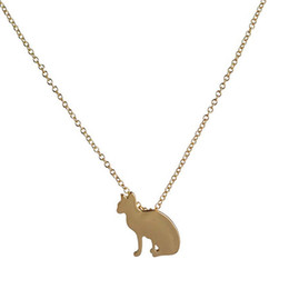 $enCountryForm.capitalKeyWord Australia - Wholesale And Retail New Animal Necklace Long Chain Collier Femme Silhouette Sphynx Cat Pendant Necklace Necklaces for women Party