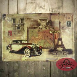 Dining Room Wall Art Vintage Style Iron Poster 2030cm Retro Car Sign Decoration B 111 160909