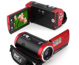 "hdd camera free Canada - Free Shipping 16MP Digital Camera 16X Digital Zoom Shockproof 2.7"" SD Camera Red Black C6"