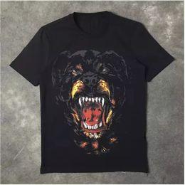 $enCountryForm.capitalKeyWord NZ - Wholesale New Fashion Rottweiler dog print High quality O-neck Black tee t shirts for men women cotton free shipping