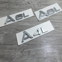 labels a4 UK - S Line Sline Front Grille Emblem Badge Chromed Plastic ABS -Front grille mount for Audi A1 A3 A4 A4L A5 A6L S3 S6 Q5 Q7 Label