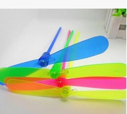 Flashing Helicopter Toy Australia - LED Flying Lights Toys Luminous Bamboo Dragonfly Flash Helicopter For Kids Gift New Childhood Classic Toy