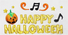 online shopping halloween decorations halloween balloons halloween happy letter set balloons diy high quality party decoration