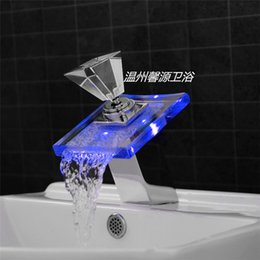 Bathroom Faucets With Lights discount bathroom vessel faucets led | 2017 led vessel sink