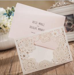 Discount Beautiful Day Wedding Invitations 2016 Beautiful Hollow Floral Custom  Wedding Invitations Cards Personal Customized Wedding