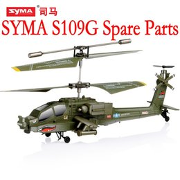 Toy Helicopters Parts NZ - SYMA S109G Main Blades USB Cable Charger Motor Mini rc R C Radio Control Helicopter Heli Copter Boy Toys Spare Parts Access Accessories