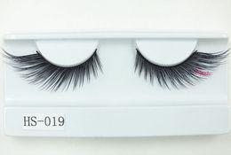 3d Hair Canada - 3D silk eyelashes 100% Handmade winged eyelashes Bushy Natural False Eyelashes faux Mink Hair Handmade Eye Lashes Makeup ToolFree shipping