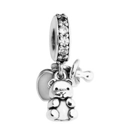 $enCountryForm.capitalKeyWord NZ - Baby Treasures Pendant silver Charm dangles authentic S925 sterling silver fits for pandora style bracelet free shipping H8ale 792100CZ