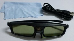 Chinese  Shutter 3D glass for cinema active 3D glasses obturation des lunettes 3d Support DLP Projecotor 120Hz Side by Side 3d manufacturers