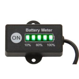 E Tester NZ - Free Shipping Battery Fuel Gauge Battery Meter 12V 24V Lead-Acid Battery Tester for car motorcycle e bike lawn mower ATV UTV