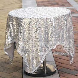Simple Modern Cloth Cloth Round Sequins Round Table Table Cloth Cloth Trade  Home Furnishing Hotel Tablecloth