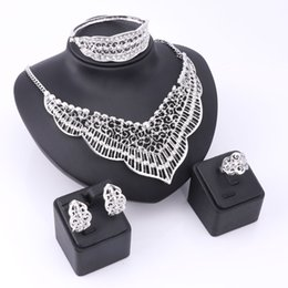 $enCountryForm.capitalKeyWord UK - African Beads Jewelry Sets Women Imitated Rhinestone Stud Earrings Statement Choker Necklace Wedding Set Party Dress Accessories