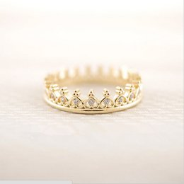 $enCountryForm.capitalKeyWord Canada - Products sell like hot cakes a new design of 18 k gold plated ring crown square ring women E - shine jewelry wholesale