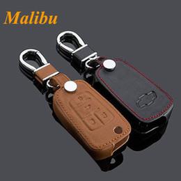 $enCountryForm.capitalKeyWord Canada - For 2014 Chevy Malibu Car Keychain Genuine Leather Key Fob Case Cover for 2013- 2015 Malibu Key Chain Car Accessories