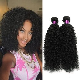 24 inch hair extensions black 2019 - 4Pc Malaysian Curly Human Hair Extensions 100g pcs Natural Black Malaysian Curly Weave Virigin Hair Malaysian Kinky Curl