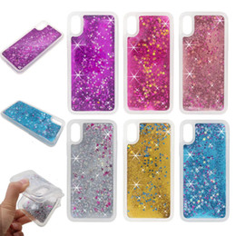 star plus NZ - Bling Glitter Stars Liquid Quicksand Shell Case For iPhone xs max xr x 6 7 8 plus Shining TPU Back Cover apple Case sansung s8 s9 note 8 9