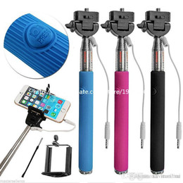 $enCountryForm.capitalKeyWord NZ - Monopod Extendable Self Timer Handheld With Cable Z07-5 plus With Groove Cable Take Pole Monopod selfie stick For Iphone 6 Samsung 100Pcs