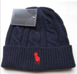 $enCountryForm.capitalKeyWord NZ - 2017 Fashion Unisex Spring Winter Hats for Men women Knitted Beanie Wool Hat Man Knit Bonnet Polo Beanie Gorros touca Thicken Warm Cap