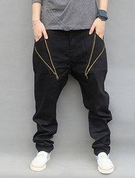 $enCountryForm.capitalKeyWord Canada - Wholesale-Big Size Hip Hop Jeans Men 2016 New Fashion Black Jeans Loose Fit Cross Jeans