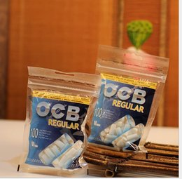 Water Tablets Canada - Import ocb filter sponge head factory wholesale ocb8MM * 2CM100 tablets disposable type, wholesale glass water bongs, water pipes accessorie