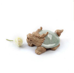 $enCountryForm.capitalKeyWord UK - wholesale porcelain tea pets dragon turtle crafts Chinese kungfu tea accessory brother kiln beautiful gift T328