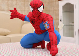 $enCountryForm.capitalKeyWord Canada - 25cm 1pc HIGH QUALITY new hot Marvel Comics item Spider-Man movie figure soft stuffed spiderman plush toy doll for boy birthday