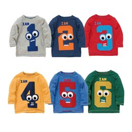 Designs Girls Shirts New Canada - 2018 New 40 Designs Kids Clothing Digital Number Animal Striped Long Sleeve t shirt Boys Girls Autumn Cotton Cartoon Tops Tees for 1-6Y