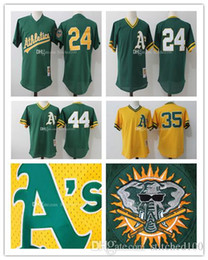 2437634dc ... Mens Oakland Athletics 35 Stitched jersey Rickey Henderson 24 Mitchell  Ness Green 1991 Cooperstown Mesh Batting ...