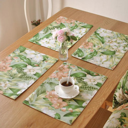 BZ820 Table Mats Tableware Mats Pads American Country Flower Cloth Placemat  Table Mat Western Pad Placemats Double Thick Mat Country Table Linens Deals