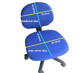 Modern Spandex Computer Chair Cover 100% Polyester Elastic Fabric Office Chair  Cover 8 Colors Options Easy Washable Removable