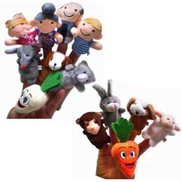 $enCountryForm.capitalKeyWord Australia - 13pcs lot Finger Puppet animal Stuffed plush Finger Dolls Baby Toys cartoon lovely figures