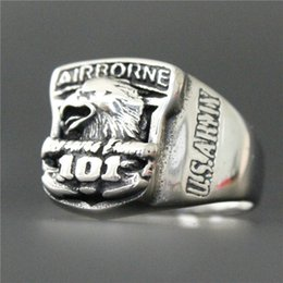 $enCountryForm.capitalKeyWord Canada - 2pcs lot New Design USA Army Ring 316L Stainless Steel Man Boy Real Men Punk Style Eagle Ring