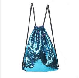 $enCountryForm.capitalKeyWord NZ - New Arrival Mermaid Sequin Backpack Sequins Drawstring Bags Reversible Paillette Outdoor Backpack Glitter Sports Shoulder Bags Travel Bag