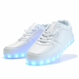 Discount neon shoes for women 2016 women light up led luminous shoes color glowing casual fashion with new simulation sole charge for men adults neon