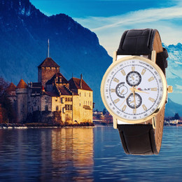 Thin Belt Watches Canada - Hot big European and American ultra-thin bamboo grain leather belt fashionable watches six-pin simple scale quartz watch