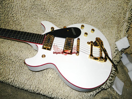 shopping china for guitar Canada - Newest Custom Shop Electric Guitar IN white With tremolo system OEM From China A88899