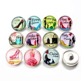 $enCountryForm.capitalKeyWord Australia - faddish 20pcs lot 18mm mom crown Glass Snap Buttons Charms Fit Snap Bracelet Necklace DIY Jewelry E mail treasure