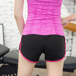 $enCountryForm.capitalKeyWord NZ - Summer Sexy Women's Yoga Sports womens gym shorts Fitness Yoga Running Gym Elastic Quick-drying Shorts compression shorts