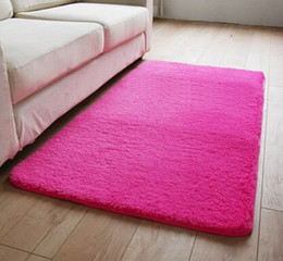 Washable Shaggy Carpet For Living Room Bedroom Soft Mats Bedside Sofa Rugs  Children Play Cushion