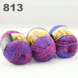 $enCountryForm.capitalKeyWord Canada - colorful hand-knitted wool line segment dyed coarse lines fancy knitting hats scarves thick line Purple Grey-green Beige 522-814