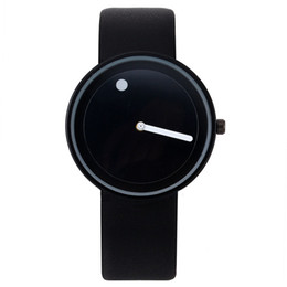 Chinese  Promotion 2018 Minimalist for Wristwatches Black White Design Watch Men High Quality Dot And Line Quartz Fashion Girl Watches manufacturers