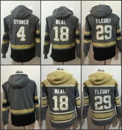 395d73a55aa 2017 2018 New Season 4 clayton stoner 18 James Neal 29 Marc-Andre Fleury Blank  Hooded Pullover Winter Hockey Hoodies Grey Hoody