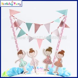 Discount theme party supplies wholesale - Wholesale- 2015 New Luxury Kids Birthday Party Decoration Set Ballet girl Theme Party Supplies Baby Birthday Party Monst